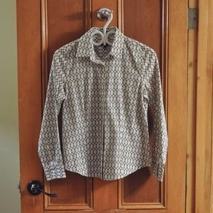 🌟2/$20🌟 Talbots Petites Chain Link Print Blouse